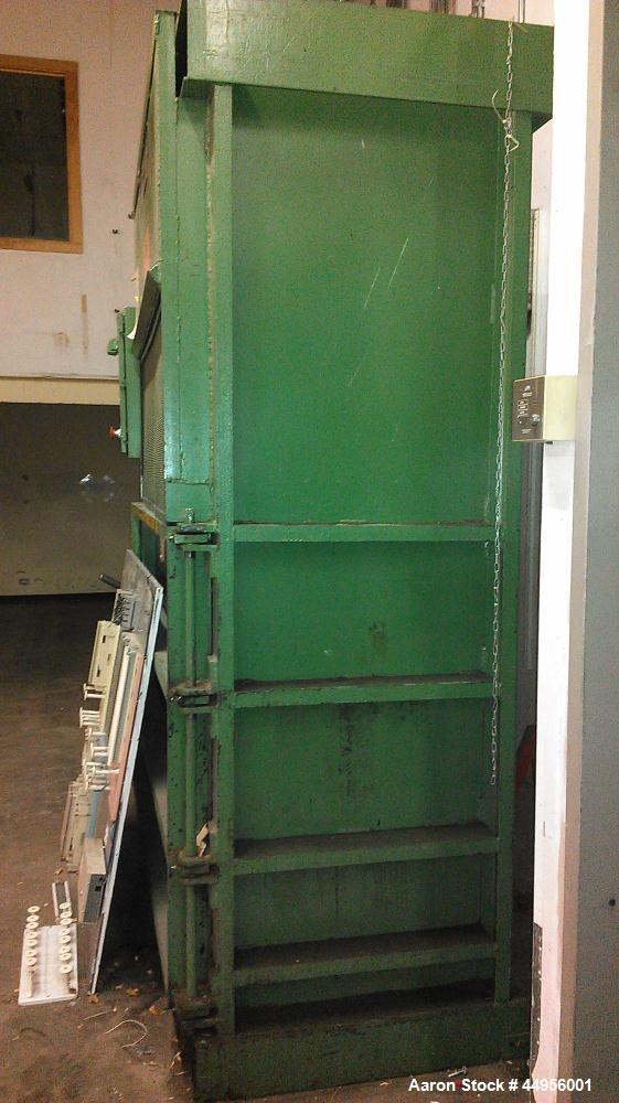 """Used-Fox Manufacturing Vertical Baler, Model 60.  Driven by a 7.5 hp motor.  60"""" Wide x 30""""."""