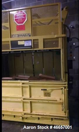 Used- Harmony Low Profile Vertical Cardboard Baler, Model M60MD. Bale size: 30 x 60 x up to 30 high, (762mm x 1520mm up to 7...