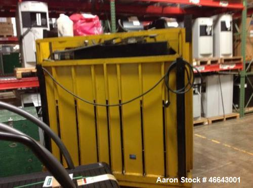 "Used- GPI Baler, Model - M72 ABC. This baler produces a bale which measures 32"" x 32"" x 72""."