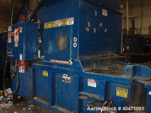 Used-Marathon baler, model 3560, built 1997. Standard operating pressure 2450 psi, platen force 120,000 lbs. Nominal baler s...