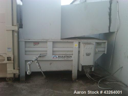 Used-Marathon Compactor, Model TC-2.  Dual cylinder stationary compactor, rear feed hopper, remote button station, 2 cubic y...