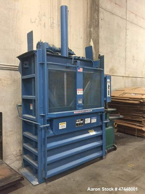 Used- Marathon Vertical Baler, Model V-6030 HD.