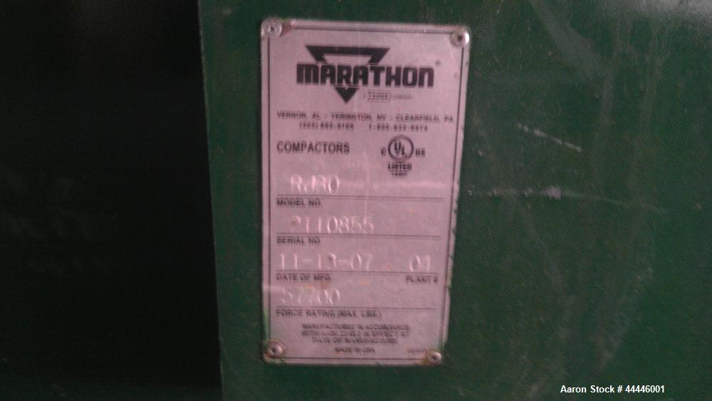 Used-Marathon Equipment RamJet High Density Compactor Extruder, Model RJ-30.  Hydraulic, force rating 57,700 max, 28 cubic y...