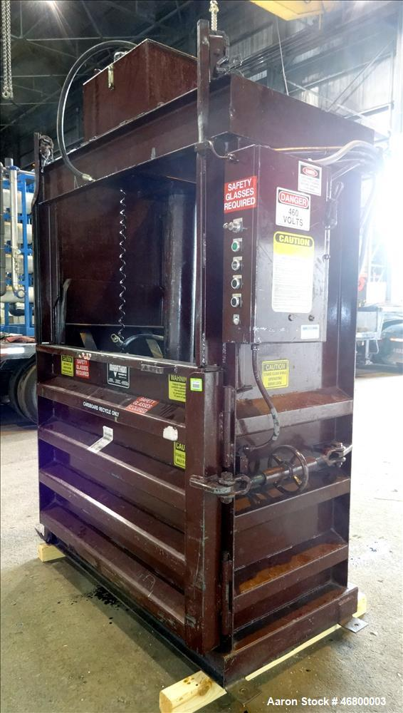 Used- Marathon Vertical Baler, Model V-6030 HD, Carbon Steel.