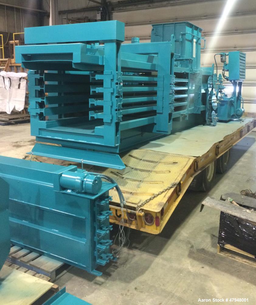 Used- Maren Baler, Model 203-103-S. Horizontal style with auto tie, 600 Volts. Mfg. 1998.