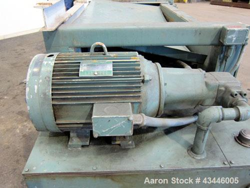 """Used- Maren Automatic Horizontal Baler, Model 72, Carbon Steel. Approximate bale size 30"""" wide x 36"""" tall x 72"""" long. Top fe..."""