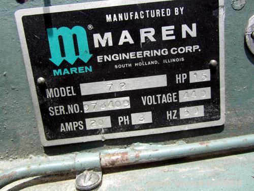 Used-  Carbon Steel Maren Automatic Horizontal Baler, Model 72