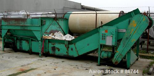"USED: Maren open end horizontal baler, carbon steel. Approximate 30""wide x 30"" high x variable length bales. Top end feed op..."