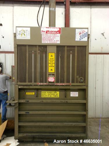 "Used- Piqua, Model 2200 H., 3/60/460 volt with ""E"" stop control panel, single hyd piston ram, discharge door."