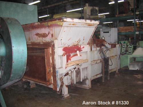 "Used- SP Industries Hydraulic Trash Compactor, Model 3001, Carbon Steel. 28"" x 60"" ram. Includes 5 hp hydraulic pump power p..."