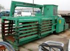 USED: Maren open end horizontal baler, carbon steel. Approximate 30