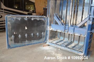 """Used- Marathon Model V603002 Vertical Baler. 6"""" diameter cylinder, 3.5"""" cylinder rod, 48"""" cylinder stroke. 50 cubic foot bal..."""