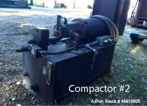 Used- Baldor Electric Co. Trash Compactor. Capacity: 27 yards. Measurements: 23 ft. x 7 ft. x 8 ft. Model: Baldor Industrial...