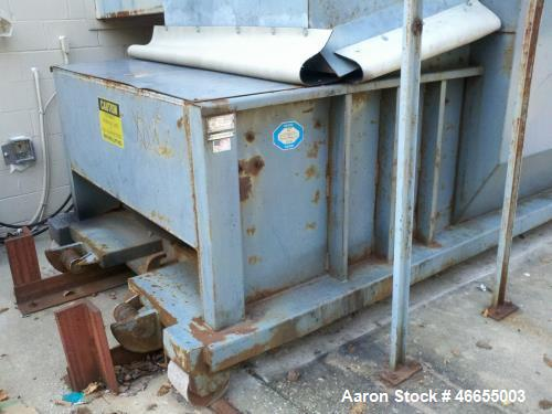 Used- JV Manufacturing Compactor Cram-A Lot CC-02-KM Compacto.  JV Manufacturing Compactor and Box (1 Unit) SCR-T12-30.