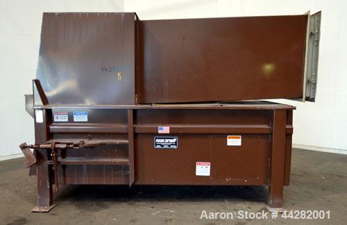 Used- Carbon Steel Marathon Equipment RamJet Stationary Compactor, Model RJ-225VL