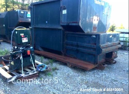 Used- Parker Trash Compactor. Capacity: 15 yards, measurements: 13 ft. x 7 ft. x 8 ft. Model D3W8CNYCS-14, Voltage: 220-240.