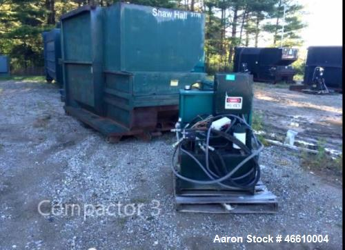Used- Parker Trash Compactor, Model D3W8CP09Y-14. Capacity: 13 yards, measurements: 12 ft. x 7 ft. x 8 ft. Includes guide is...