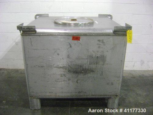 Used-Transtore 335 gallon liquid stainless steel tote. Dot spec NO 57. Design pressure 6.1 psig. Test pressure 3 psig. Rated...