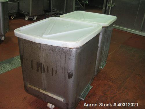 Used-Dump buggy/ portable tote, stainless steel.