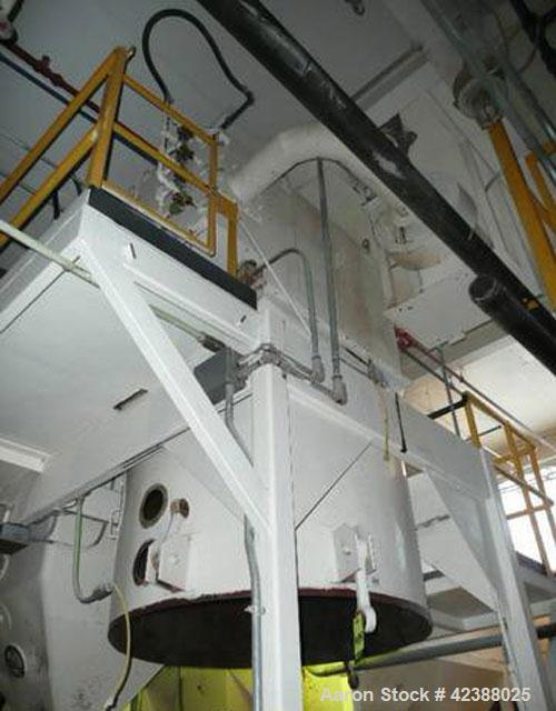 Used- Mild Steel Receiving Bin  Approx. 10'H X 5' Dia.