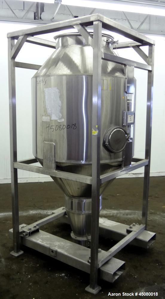 Used- Stainless Steel Jenike & Johanson Cone-In-Cone Tote Bin
