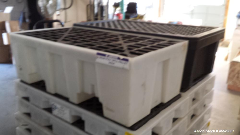 """Used-Drip Deck Spill Containment Skid, Plastic, 55"""" x 27""""."""