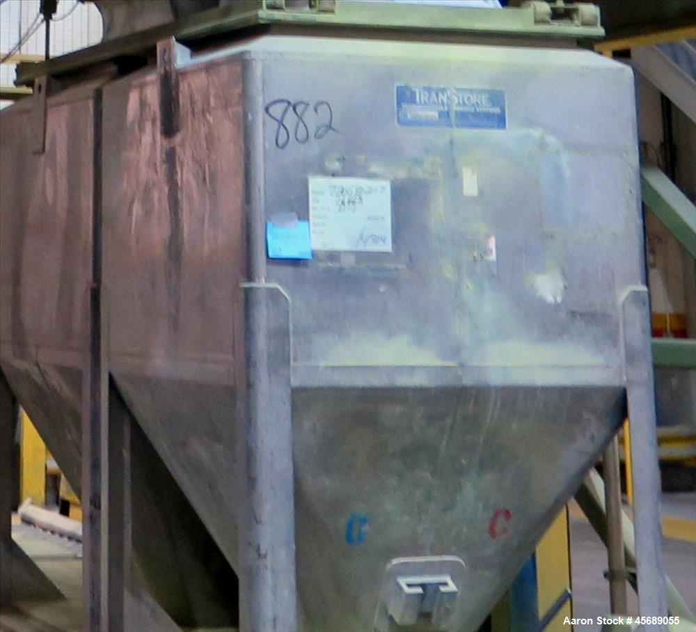 """Used-Lot Consisting of Approximately 50 Stainless Steel Totes.  55"""" Wide x 39"""" Straight Side x 42.5 Cone.  43.5"""" x 43.5"""" Squ..."""