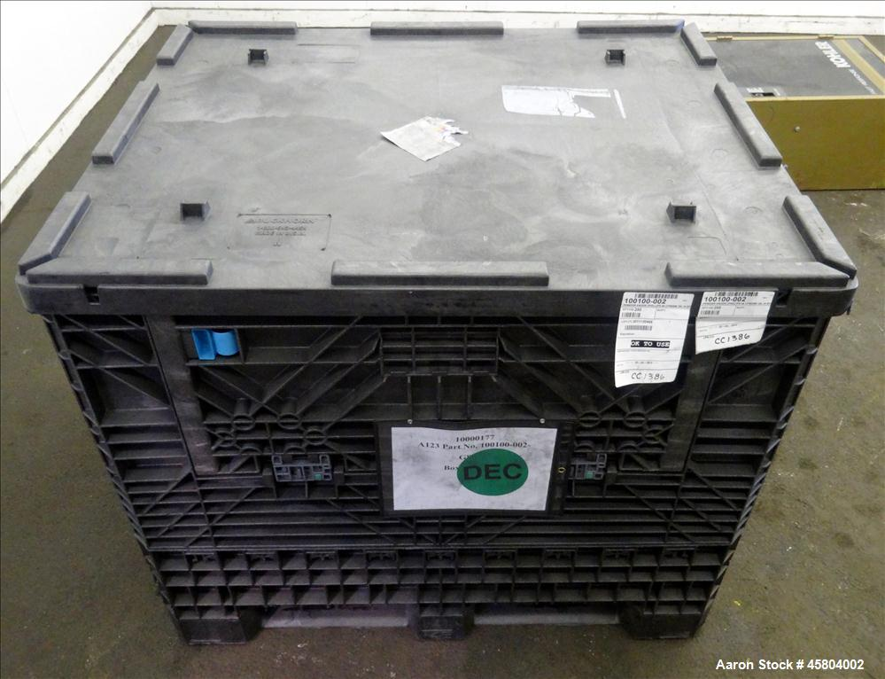 Used- Buckhorn Industry Standard Collapsible Plastic Crate / Box, Approximate Volume 29.8 Cubic Feet, 1600 lbs. capacity, Pl...
