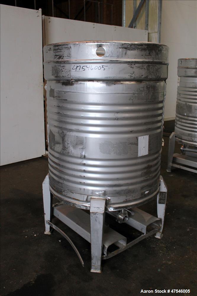 Used- Sanofi Bio-Industries Tote Bin, 800 Liter, 28 Cubic Feet, 304 Stainless St