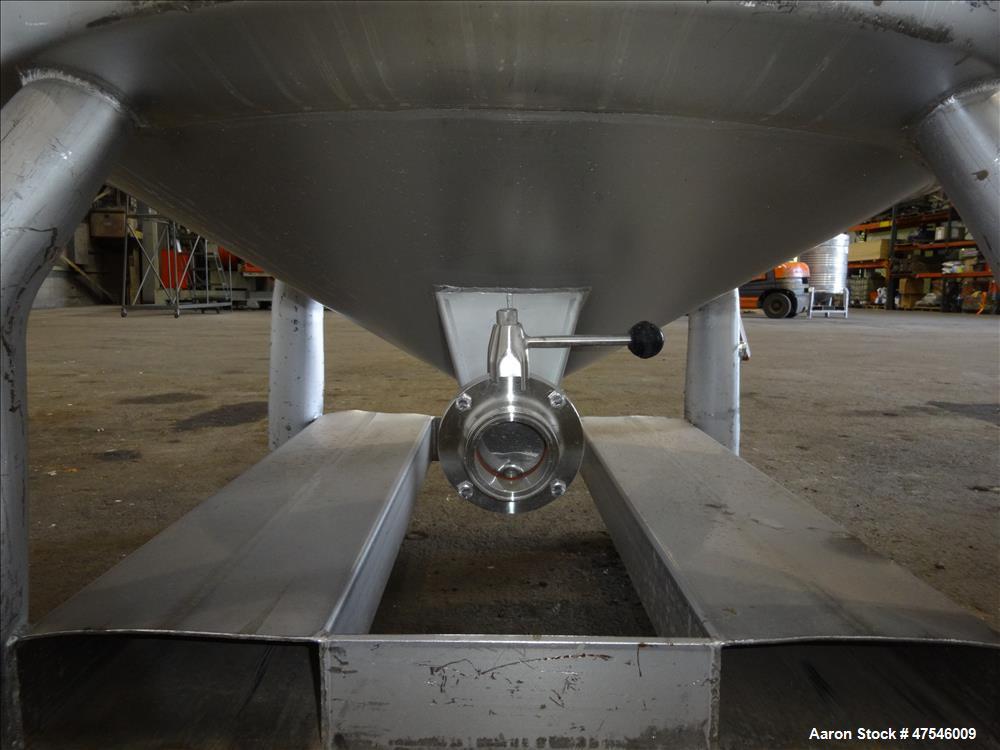 Used- Eurocont Tote Bin, 800 Liter, 28 Cubic Feet, 304 Stainless Steel, Vertical