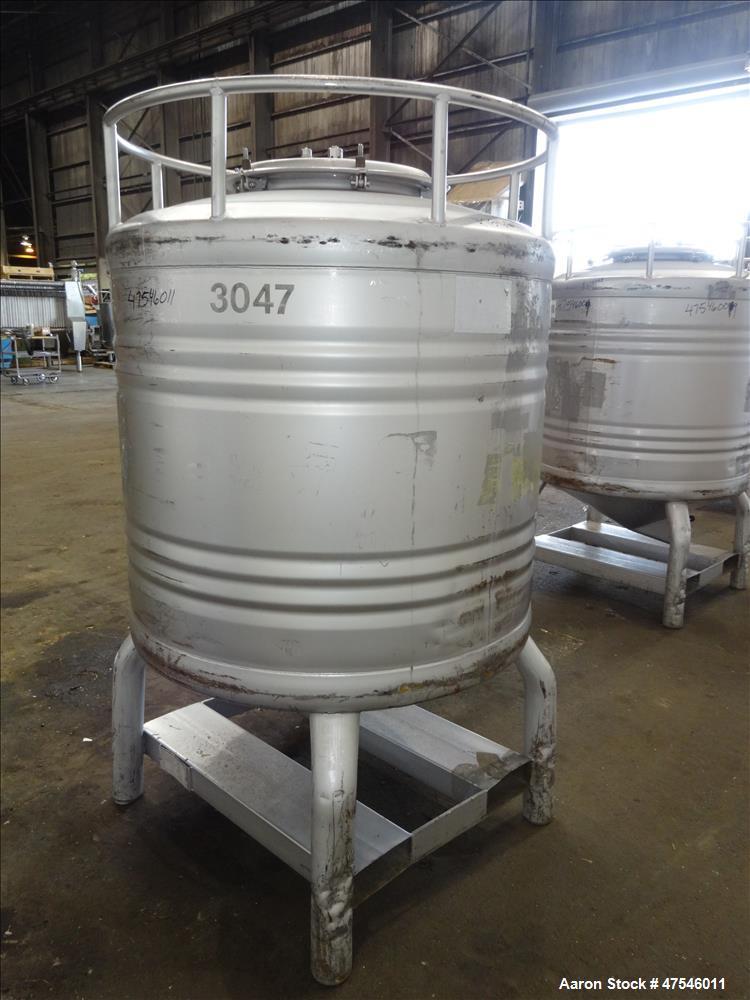 Used- Eurostar Tote Bin, 800 Liter, 28 Cubic Feet, 304 Stainless Steel, Vertical