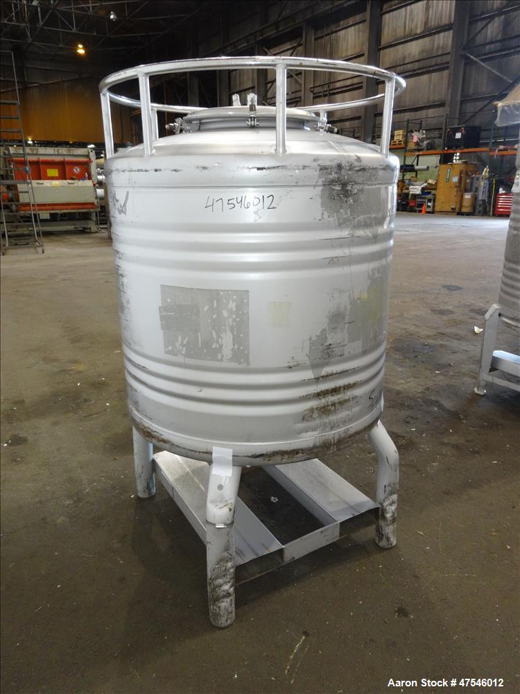 Used- Eurocont Tote Bin, 800 Liter, 28 Cubic Feet, 304 Stainless Steel, Vertical