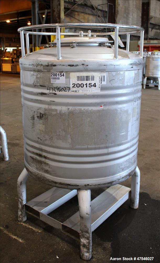 Used- Automationstechnik Tote Bin, 800 Liter, 28 Cubic Feet, 304 Stainless Steel