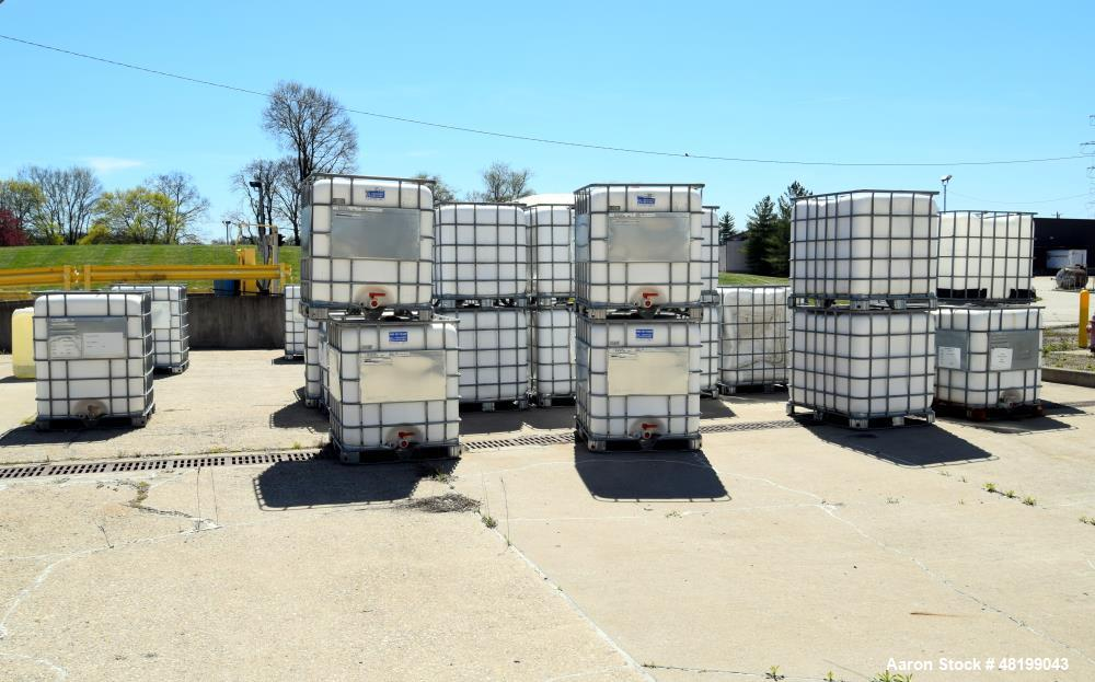 Used- Schutz Aluminum Frame Totes w/ Poly Tank, Transport Rated 1650 Kg Max.