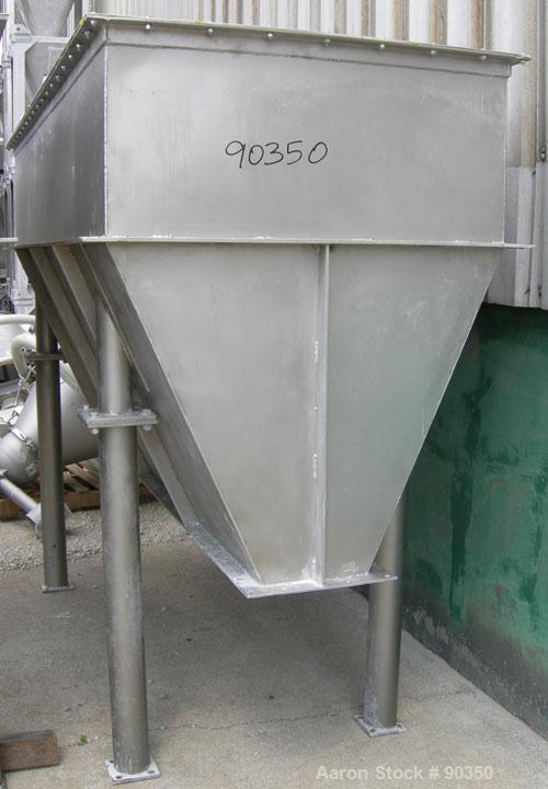 "Unused-USED: Feed Hopper 1'8"" straight side x 3' wedge height), 66 deg angle, approximately 140 cubic feet."
