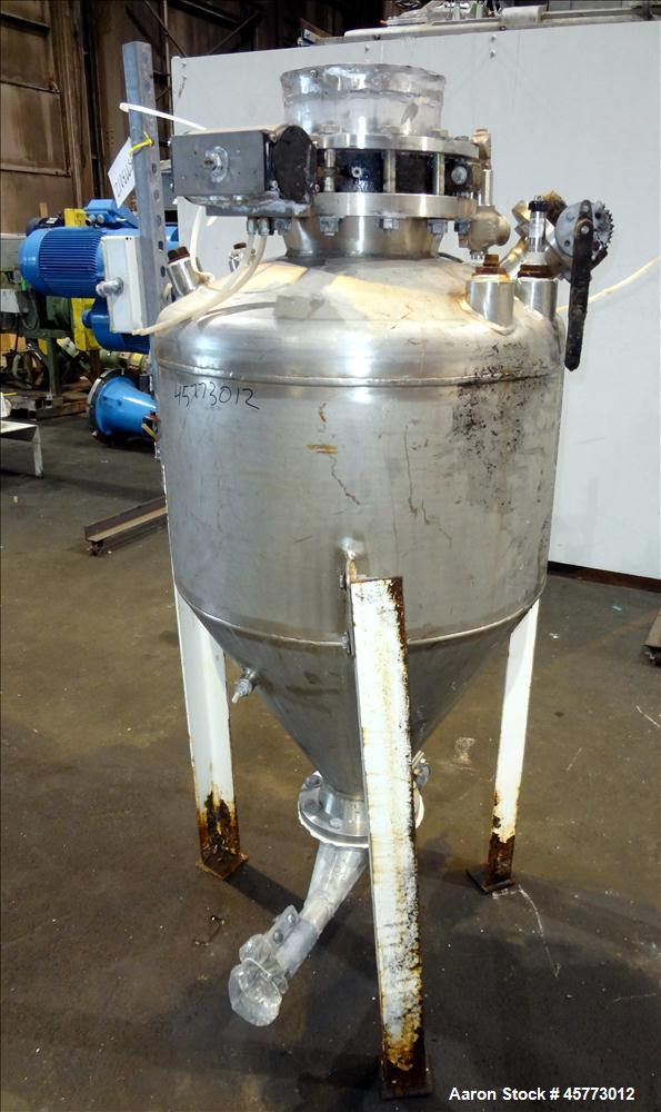 Used- Arrow Tank & Engineering Company Pressure Hopper, Approximate 8 Cubic Feet