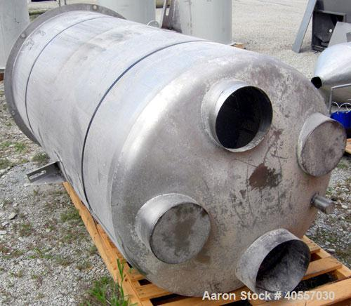 Used-Azo Live Bottom Bin Discharger, 304 stainless steel. Approximately 44'' diameter, 9 1/2'' center bottom outlet. Driven ...