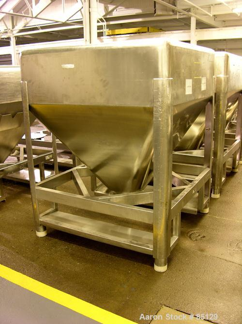 Used- Stainless Steel B&G Stackable Tote Bin