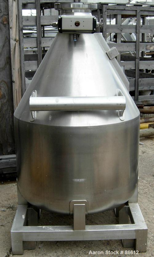 USED- Stainless Steel L B Bohle Tote Bin, Model 1BC