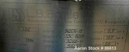 "USED: L B Bohle tote bin, approx 13 cu ft, model 1BC, 316L stainless steel. Approx 34"" diameter x 24"" straight side x 27"" co..."