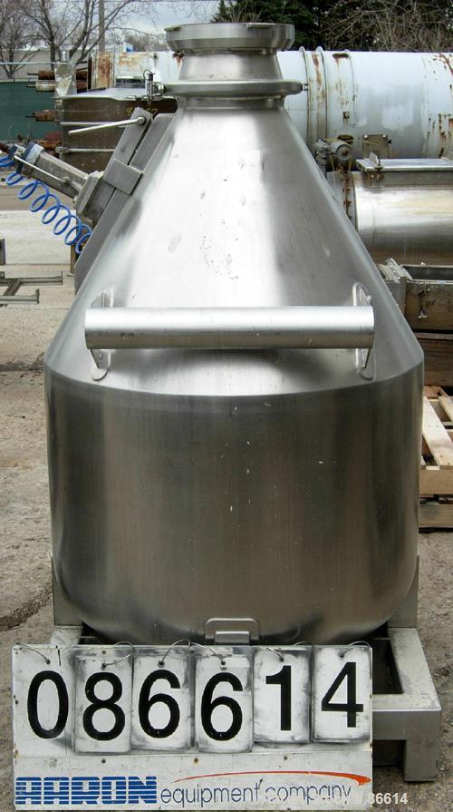 """USED: L B Bohle tote bin, approx 13 cu ft, model 1BC, 316L stainless steel. Approx 34"""" diameter x 24"""" straight side x 27"""" co..."""