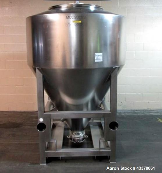 Used- LB Bohle Bin, 2000 Liter, Model MCL2000. Stainless steel construction, serial# 0512846003-2.