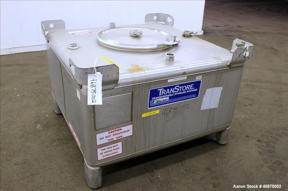 Used- Custom Metal Craft TransStore Tote Bin, 250 Gallon (946 Liters), Approximate 33.4 Cubic Feet Capacity, Model 513328, 3...