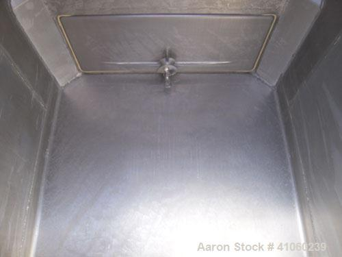 """Used- Custom Metal Craft Powder Stackable Tote Bin, Approximately 50 Cubic Feet, Aluminum. 48"""" Wide x 42"""" long x approximate..."""