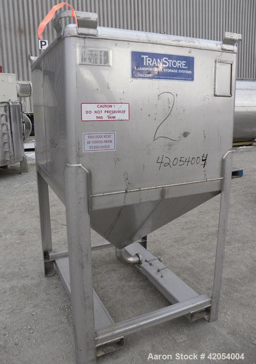 """Used- Custom Metalcraft Transtore Tote Bin, Approximately33 Cubic Feet(250 Gallon), 316 Stainless Steel. 46"""" long x 42"""" wi..."""