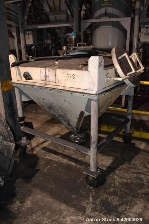 Used-Custom Metalcraft Transtor Tote Bin, Approximate 10 Cubic Feet, Stainless Steel.