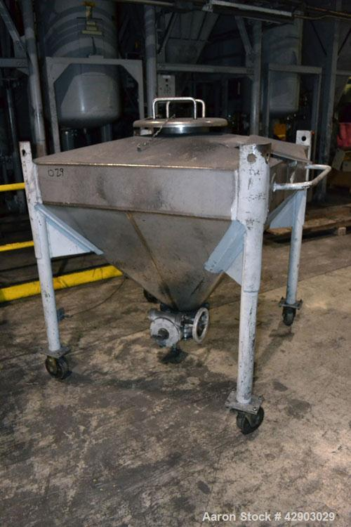 Used-Custom Metalcraft Transtor Tote Bin, Approximate 10 Cubic Feet, Stainless Steel.