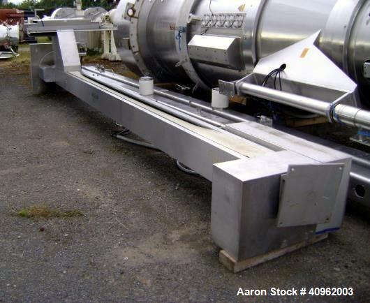 """Used- Fordertechnik IBC Bin Lifter, Type FT1500C, Stainless Steel. Unit has an approximate lift height of 6300mm (248"""") and ..."""