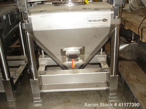 Used- Stainless Steel GEI Gallay Stackable Tote Bin