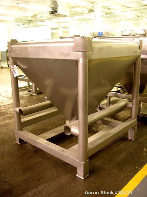 Used- Stainless Steel GEI Tote Bin